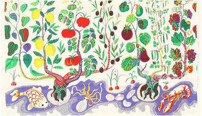 Josef Frank, 'Vintage Cotton Italian Dinner Textile by Josef Frank', ca. 1950