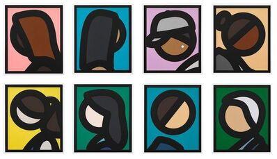 Julian Opie, 'Paper Heads (Complete Set of 8)', 2019