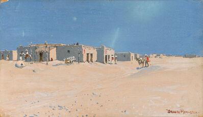 Frederic Remington, 'A Texo Mexican Adobe Towne', circa 1890