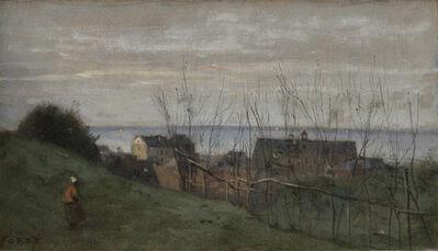 Jean-Baptiste-Camille Corot, 'Le Tréport, maison dominant la mer.', 1855-1860
