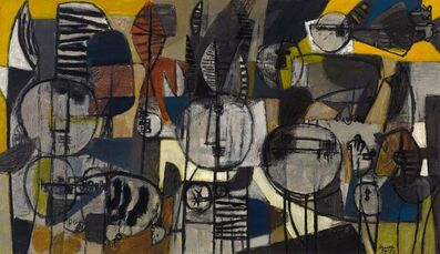 Corneille, 'Etres et animaux', 1952
