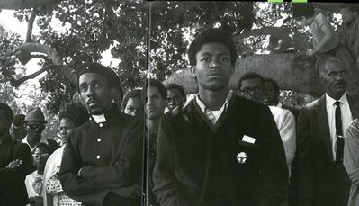 Pirkle Jones, ' Audience, Free Huey Rally, at De Fremery Park, Oakland, CA', 1968