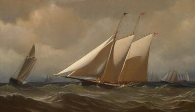 "Archibald Cary Smith, 'Racing Yacht ""Comet"" Off New York', 1879"