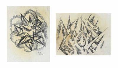 Gerardo Dottori, 'Studio per armonie di forme contrarie, 1934, Studio per forze ascensionali, 1918-19', 1918-1919