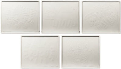 Keith Haring, 'White Icons Suite of 5', 1990