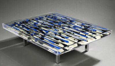 Arman, 'Mali, Table aux encriers bleus et noirs', 2002