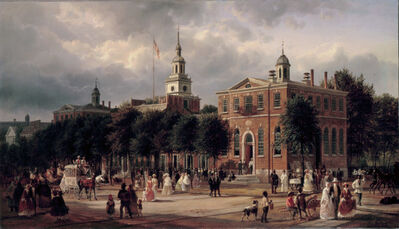 Ferdinand Richardt, 'Independence Hall in Philadelphia', ca. 1858-1863