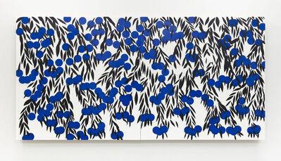 Donald Sultan, 'Blue Berries May 4 2021', 2021