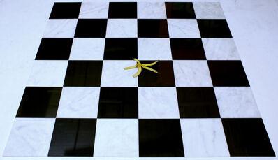 Joe Nanashe, 'Untitled 6x6 Marble and Granite Tile with Banana Peel', 2016