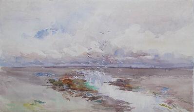 Gertrude Beals Bourne, 'Seagulls and Tidal Flats', ca. 1900