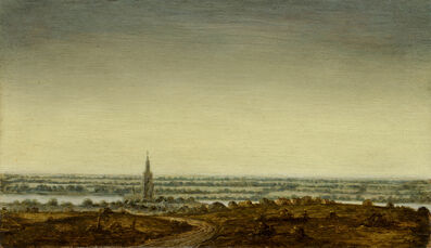 Hercules Segers, 'Panoramic Landscape with a Town on a River', 1625-1630