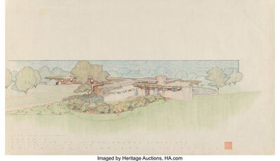 Frank Lloyd Wright, 'Drawing of the Mr. & Mrs. Gregor S. Affleck House', 1940