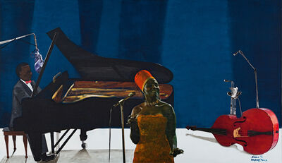 Sam Nhlengethwa, 'The Jazz Player, Miriam Makeba'