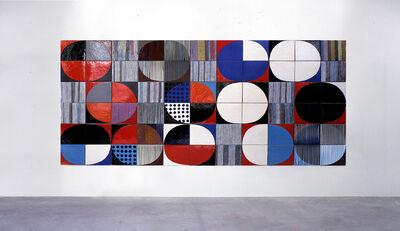 Jun Kaneko, 'Dutch Wall - Image of Tulip', 1996