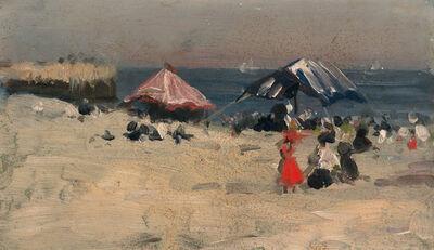 Francis Luis Mora, 'Beach Scene'