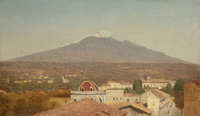 Sanford Robinson Gifford, 'Mount Etna from Catania', 1868