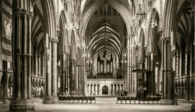 Dick Arentz, 'High Altar from Nave, Lincoln Cathedral, England', 2017