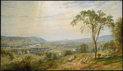 Jasper Francis Cropsey, 'The Valley of Wyoming', 1865