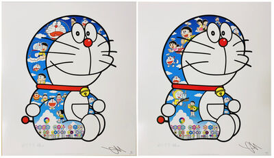 Takashi Murakami, 'Sitting Doraemon (Two Works)', 2020