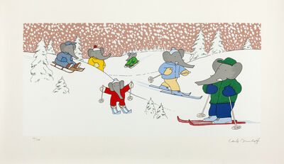 Laurent de Brunhoff, 'What Could Be Better That Skiing in Winter?', 2006