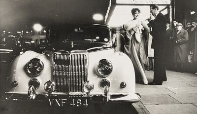 Norman Parkinson, 'Lady Bronwen Astor at the Dorchester with her Armstrong Siddeley: Three Portraits', 1958