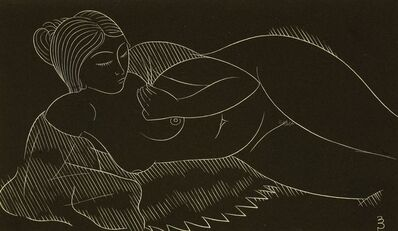 Eric Gill, 'Three Nude Studies', 1938