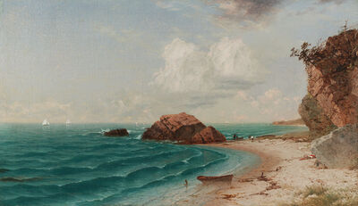 John Frederick Kensett, 'New England Coastal Scene with Figures', 1864