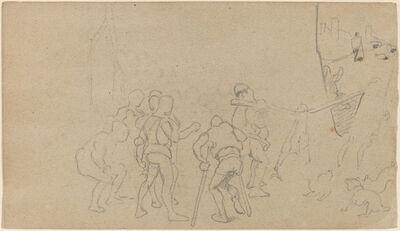 Elihu Vedder, 'Village Scene', ca. 1859