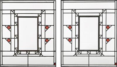 "Frank Lloyd Wright, 'Two Clerestory Windows from ""Northome,"" the Francis W. Little House, Wayzata, Minnesota', circa 1912-1914"