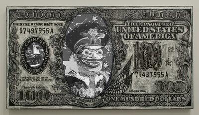 Federico Solmi, 'Chinese Tyrant B/W 100$ Bill', 2013