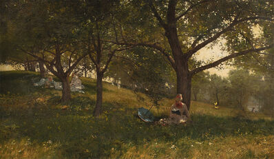 Walter Launt Palmer, 'In the Orchard', 1881