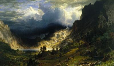 Albert Bierstadt, 'A Storm in the Rocky Mountains, Mt. Rosalie', 1866