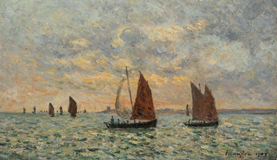 Maxime Maufra, 'Soleil couchant, Baie de Concarneau', 1903