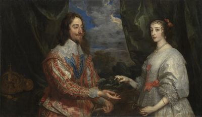 Anthony van Dyck, 'Charles I and Henrietta Maria Holding a Laurel Wreath', 1632