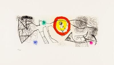 Joan Miró, 'Untitled from Erik Satie: Poems ', 1969