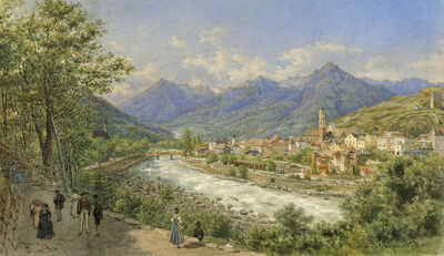 Franz Alt, 'View on Meran', 1873
