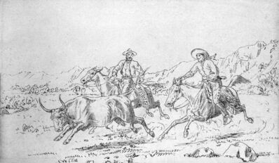'Vaqueros and Bull', 1933