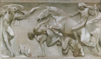 Giulio Aristide Sartorio, 'From the Great Discoveries, Through the Gloomy Ages, to the Living Revival of the Race', 1906