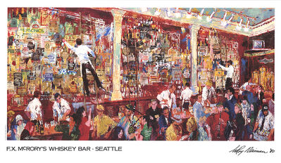 LeRoy Neiman, 'F.X. McRory's Whiskey Bar-Seattle', 1980