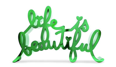 Mr. Brainwash, 'Life Is Beautiful-Hard Candy Green', 2020