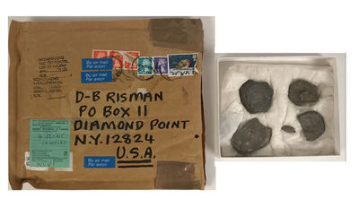 "Richard Long, '5 PIECE SET- ""4 Stone Samples"", 1990's, Extras for a Linear Sculpture, SIGNED', 1990-2002"