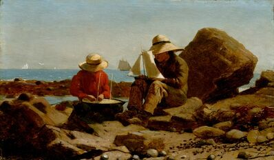 Winslow Homer, 'The Boat Builders', 1873