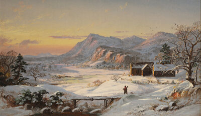 Jasper Francis Cropsey, 'Winter Scene, North Conway, New Hampshire', 1859