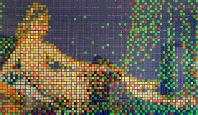 "Invader, '""Rubik Ingres"" - La grande Odalisque', 2005"