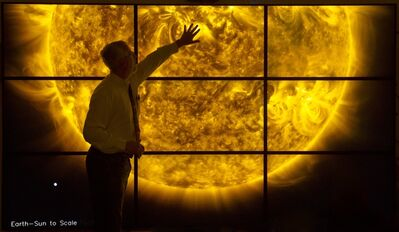 """Dr. Mark Weber and Dr. Henry """"Trae"""" Winter III, 'Solar Wall', 2010"""