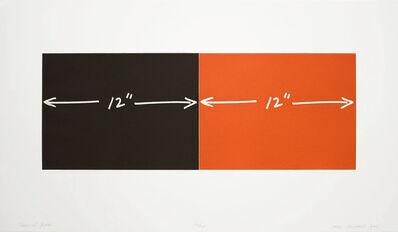 "Mel Bochner, 'Two 12"" Plates', 1994"