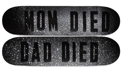 Mark Flood, 'MOM DIED and DAD DIED', 2014