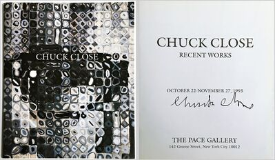 Chuck Close, 'Chuck Close Recent Works (Hand Signed)', 1993