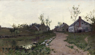 Bruce Crane, 'Farmhouses in the Light', ca. 1885
