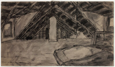 James Castle, 'Untitled (Attic/Garden Valley, double-sided)', n.d.